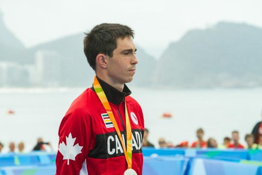 Stefan Daniel starred in his home World Cup Paratriathlon race in Magog
