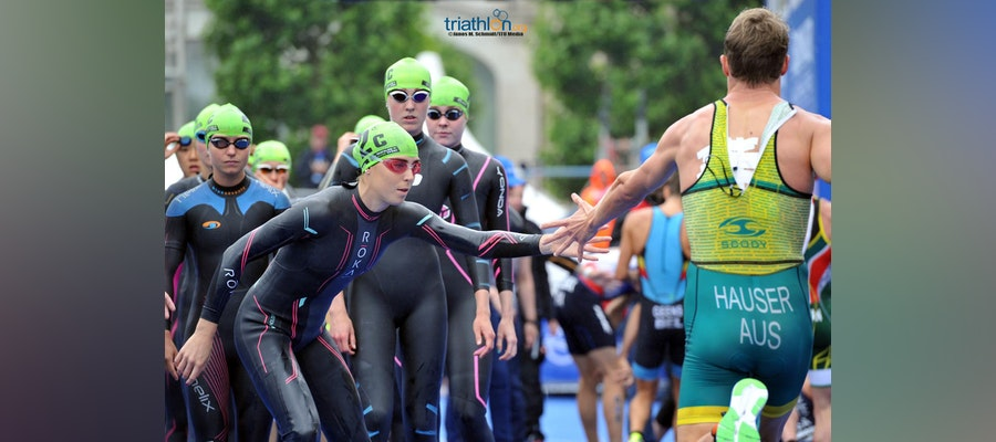 Triathlon action continues in the Gold Coast with the Mixed Relay