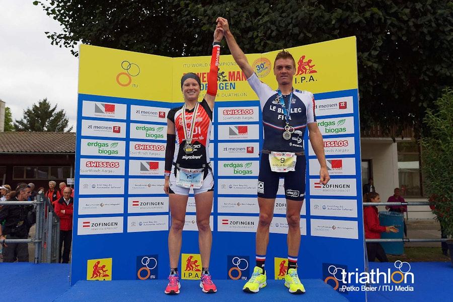 Eggenschwiler and Le Bellec triumph in the Zofingen Duathlon Long Distance World Championships