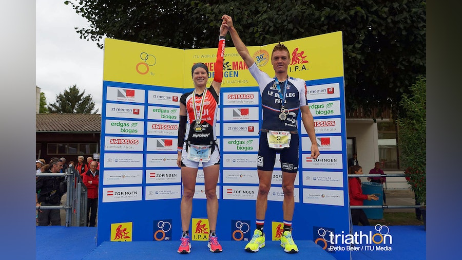 Eggenschwiler and Le Bellec triumph in the Zofingen Duathlon Long Distance World Championships