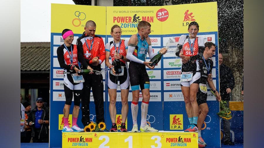 Swiss athletes storm the Zofingen ITU Powerman Long Distance Duathlon World Championships