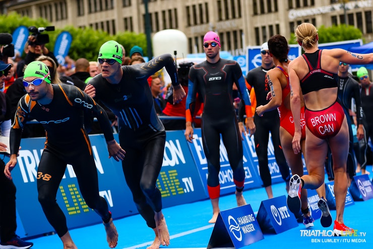 Hamburg city center ready to welcome once again the Triathlon Mixed Relay