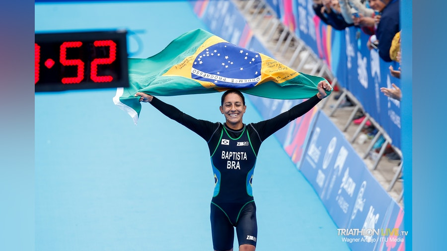 Luisa Baptista earns the gold medal for Brazil in the 2019 Pan American Games