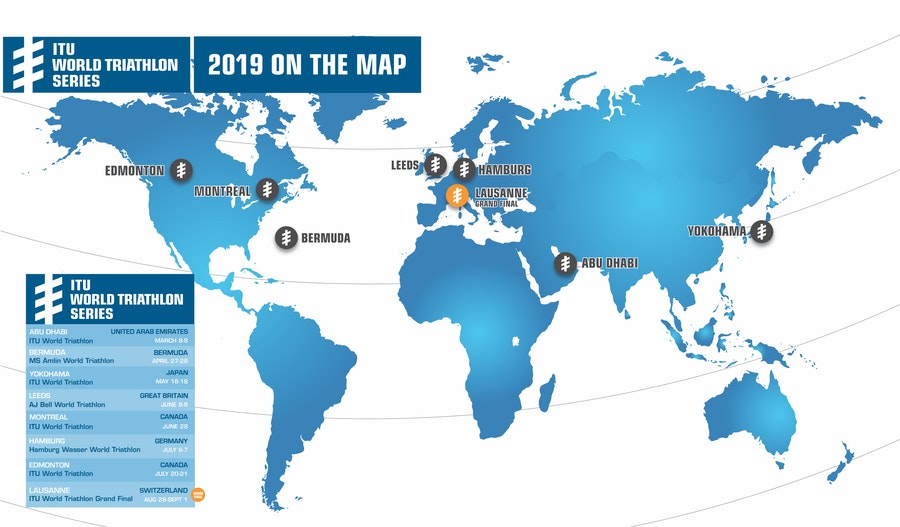 ITU announces the 2019 World Triathlon Series Calendar