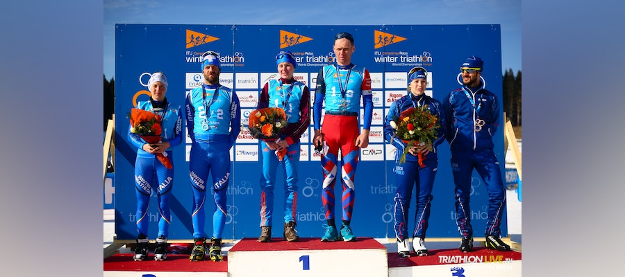Russia dominates the Winter Tri 2x2 Mixed Relay