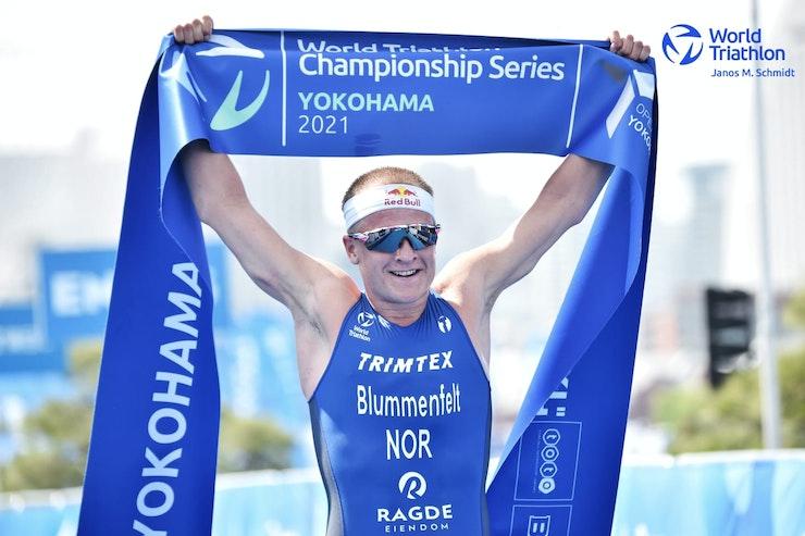 Blummenfelt hangs tough in Yokohama for season-opener gold