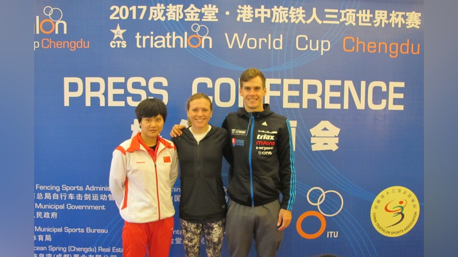 Athletes chatter ahead of Chengdu World Cup