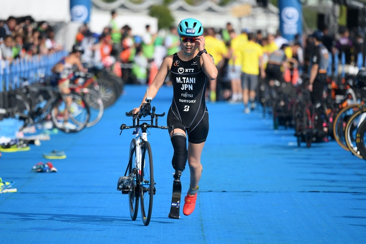 Para triathlon stars come out for first action of the season in Yokohama