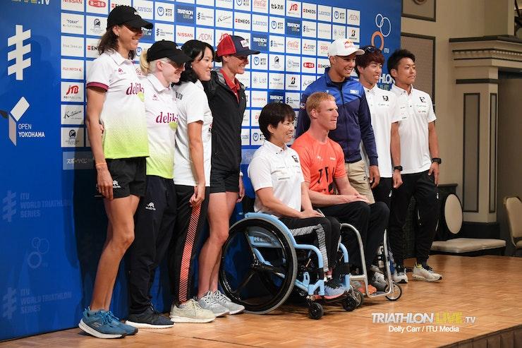 Conferencia de prensa en Yokohama
