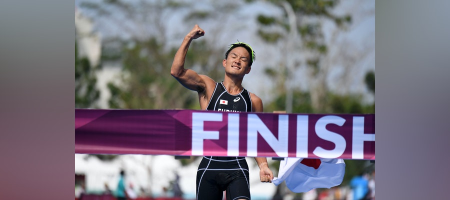 Jumpei Furuya races to victory at the Asian Games
