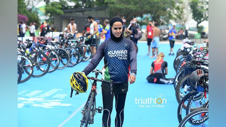 Najla Al-Jeraiwi and Basmla Elsalamoney are driving forces in triathlon