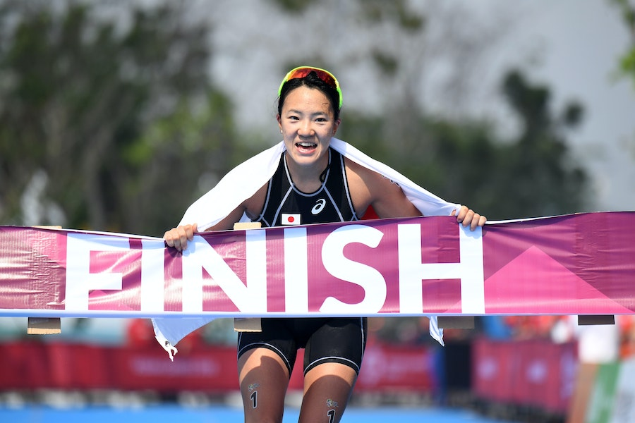 Takahashi dominates triathlon at the Asian Games to claim the gold medal