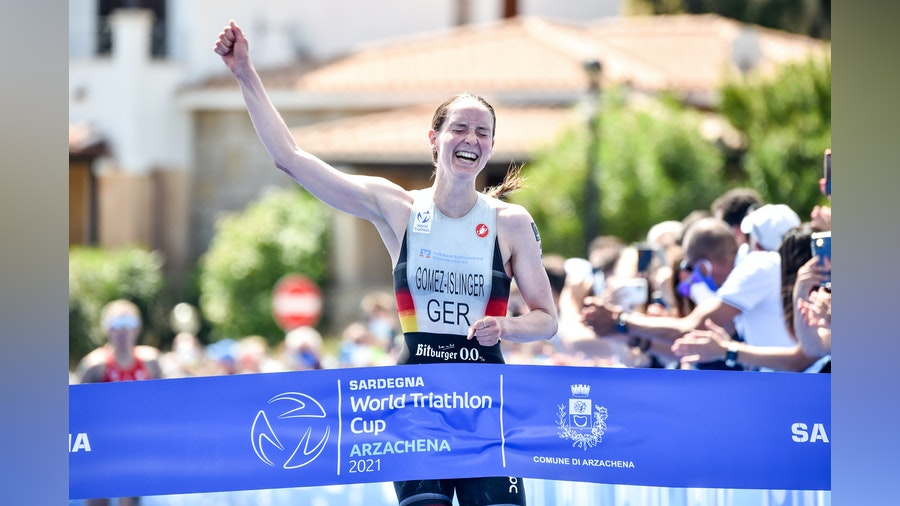 Gomez-Islinger shows perfect timing to win first gold in Arzachena