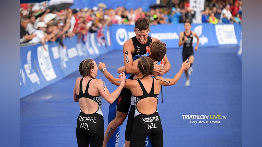 Knighton, Reid, Thorpe & Wilde bring home Mixed Relay gold for New Zealand