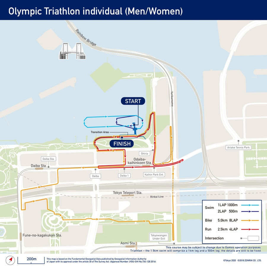 ITU and Tokyo 2020 Unveil Triathlon, Mixed Relay & Paratriathlon Courses