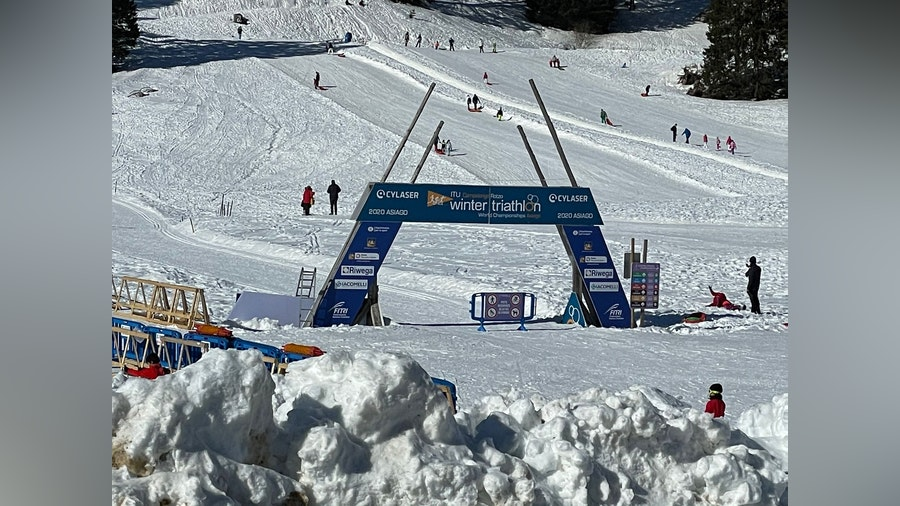 Ideal conditions welcome participants of the Asiago World Triathlon Winter Cup