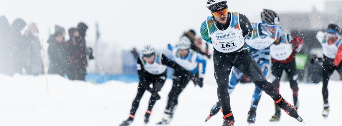 Leboeuf and Modig earn the highest honours at Quebec S3 Winter Triathlon World Cup