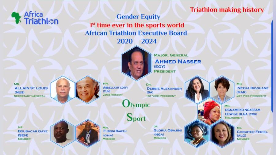 General Ahmed Nasser, re-elected President of Africa Triathlon