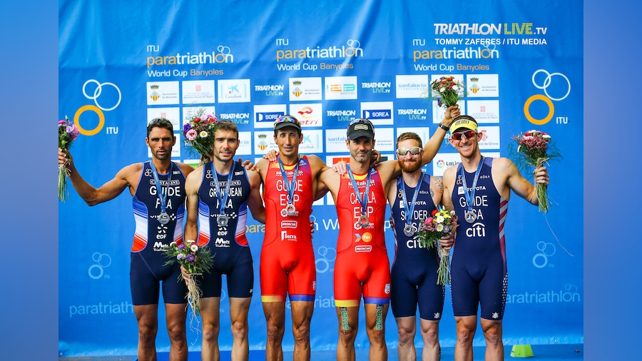 Spain dominates the Banyoles Paratriathlon World Cup