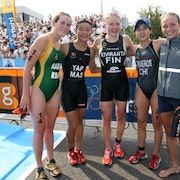 Team ITU celebrates five-year anniversary at Auckland World Cup