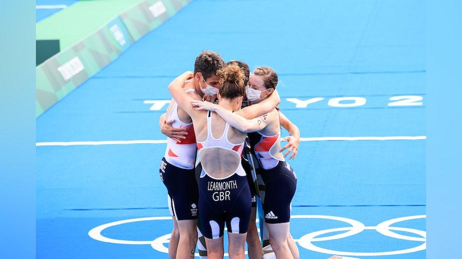 The team spirit of the Olympic Triathlon Mixed Relay