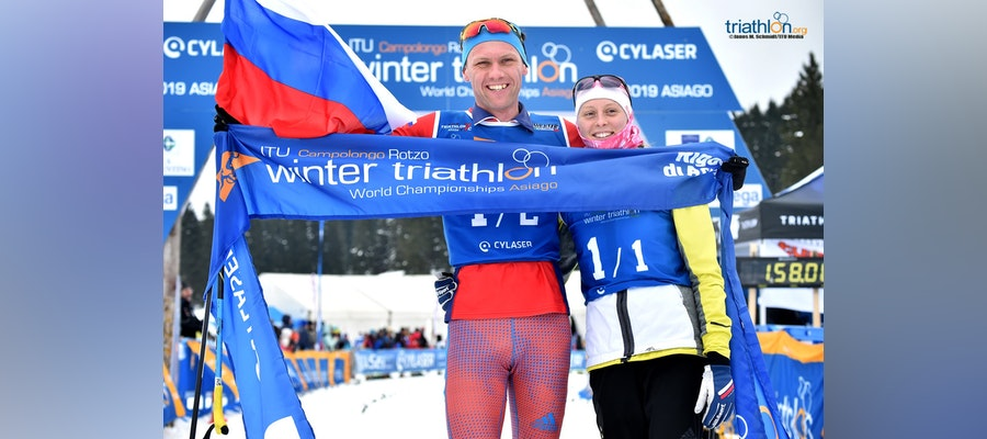 Russia claims the first ever 2x2 Wintertri Mixed Relay World title