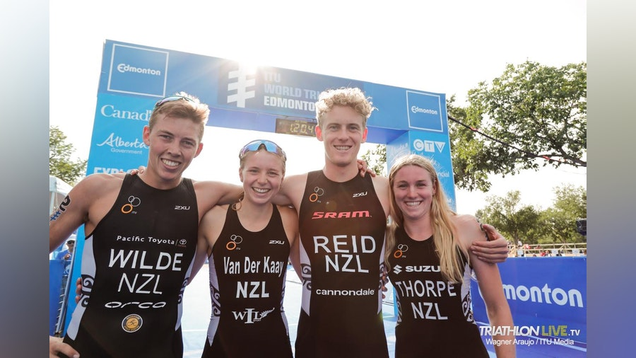 New Zealand lines up their youngsters to claim gold in Edmonton Mixed Relay Series