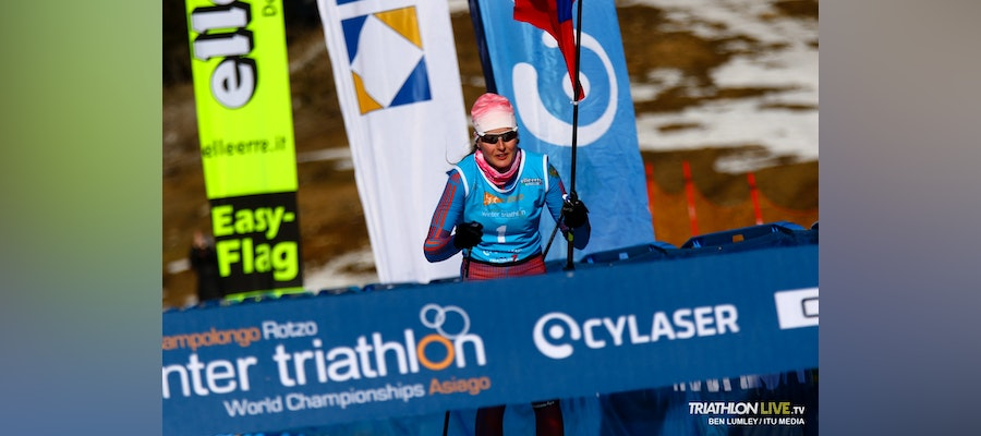 Andreev and Rogozina claim once again the Winter Triathlon World crowns