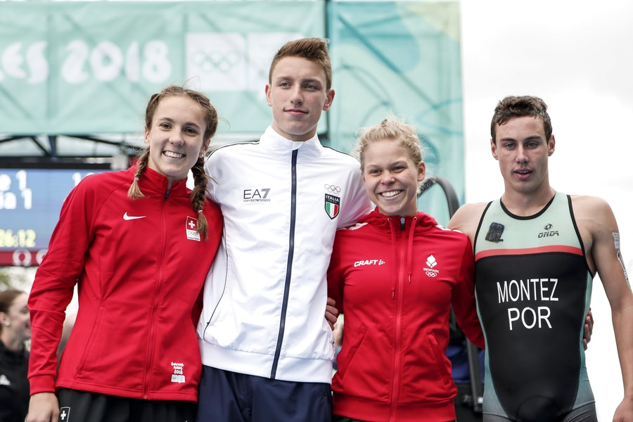 Europe I claims the title in the Buenos Aires YOG Mixed Relay