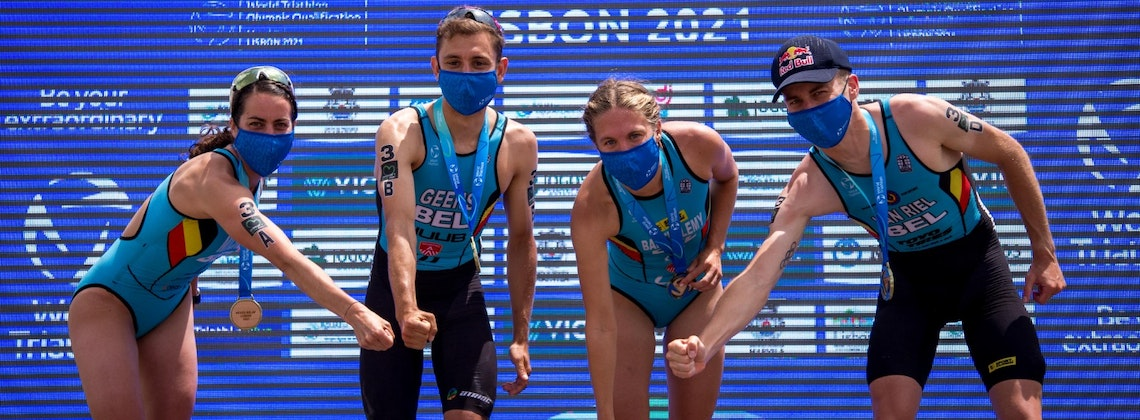 Team Belgium hammers home for Mixed Relay gold in Lisbon ahead of Italians and Swiss