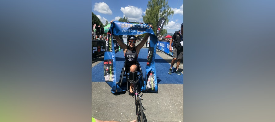 Christiane Reppe continues successful switch and claims paratriathlon gold in Magog