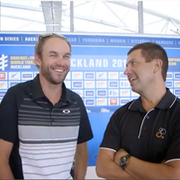 Kris Gemmell and Barrie Shepley talk Auckland World Triathlon Series; Video Preview